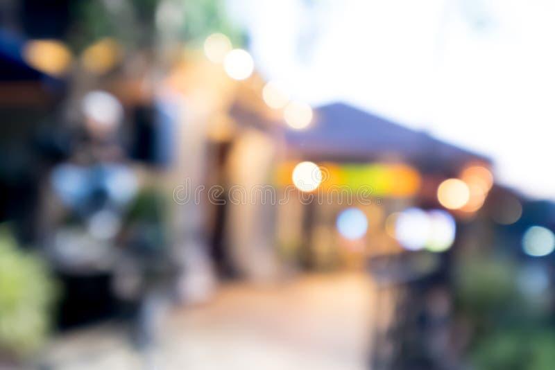 Resuma el restaurante y la cafetería borrosos de la imagen con el bokeh para foto de archivo libre de regalías