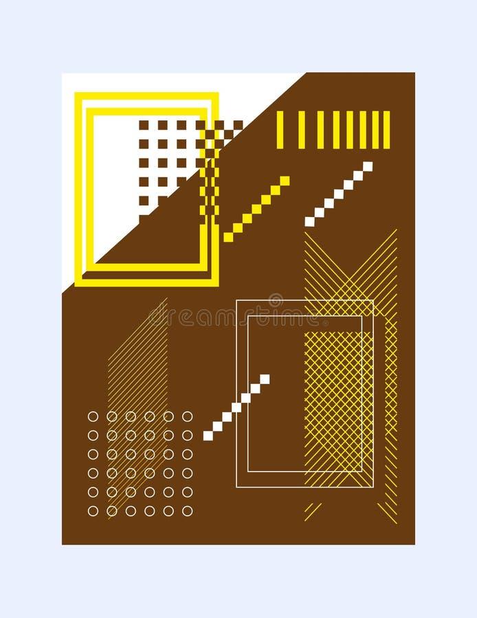 Resuma la disposición de las formas geométricas de la cubierta del folleto para la presentación o de la publicación de conceptos  stock de ilustración