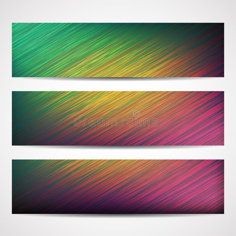 Resuma las líneas curvadas en el ejemplo brillante del vector del fondo stock de ilustración