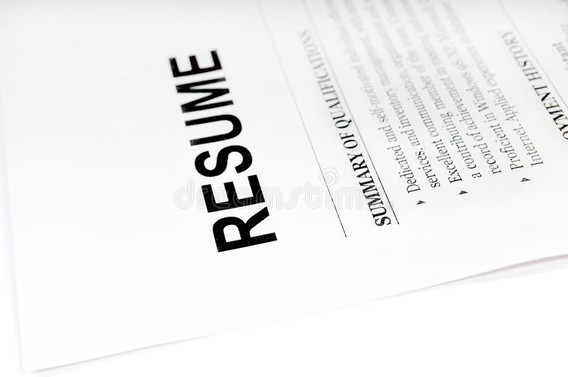 Download Resume stock photo. Image of cover, form, interview, experience - 10286964