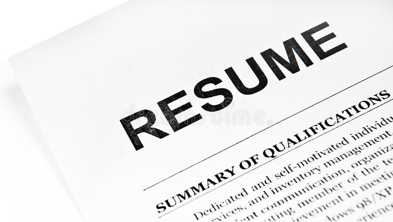 Resume royalty free stock photo