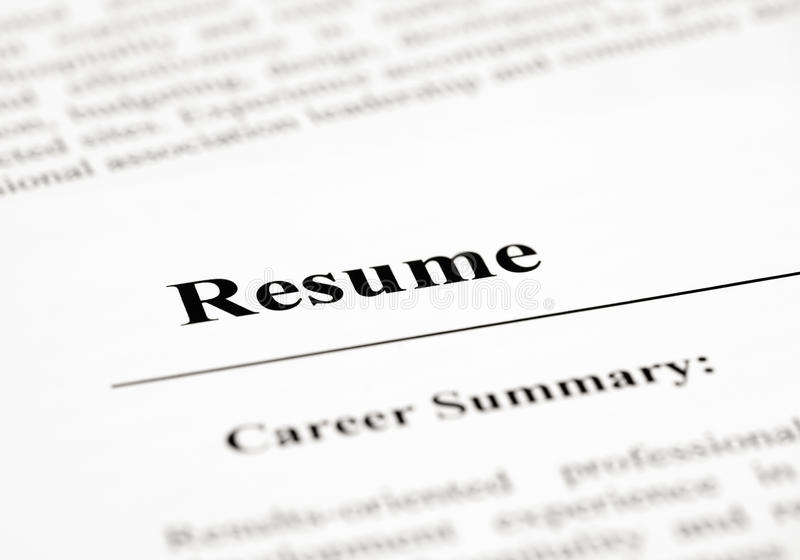 resume word stock images