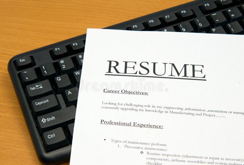 Resume@cv fotografia de stock royalty free