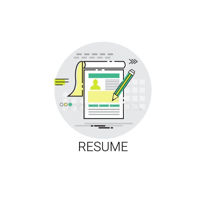 Resume Cv Form Job Vacancy Recruitment Application Icon Stock Vector