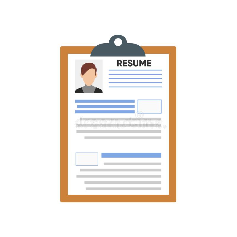 Resume Cv Template With Photo And Details 库存例证