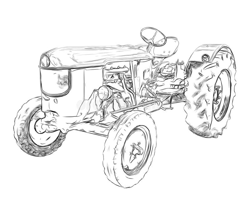Resume el tractor de granja libre illustration