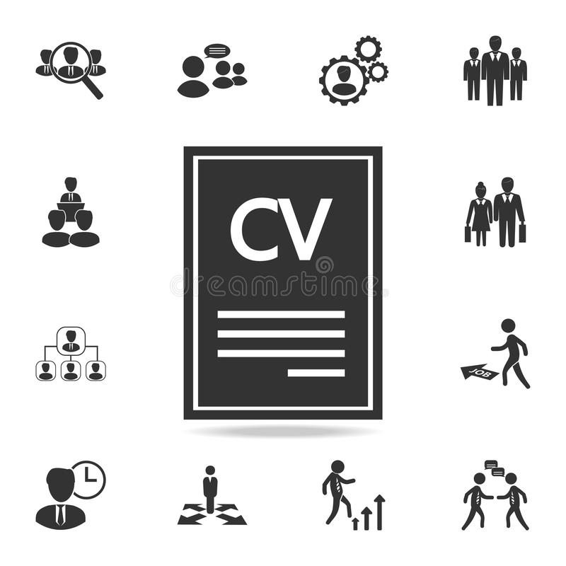 download resume icon set of human resources head hunting icons premium quality graphic