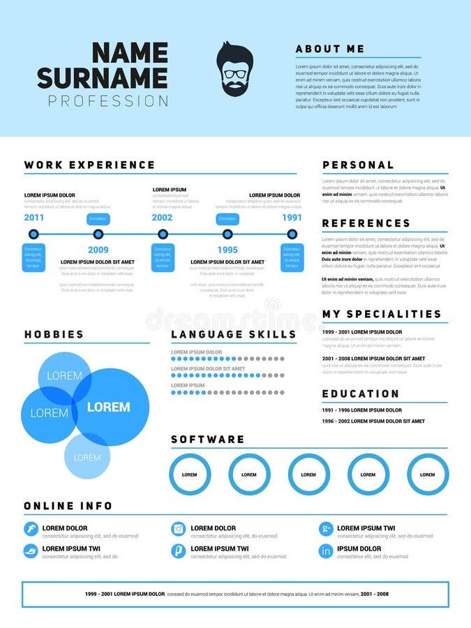 resume minimalist cv  resume template with simple design  company application cv  curriculum