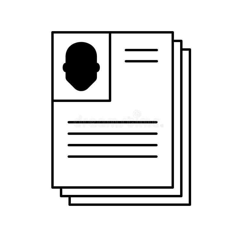 resume vektor illustrationer
