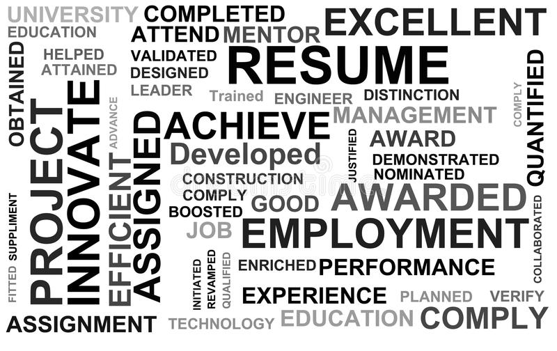 Download Resume Powerful Words Royalty Free Stock Photos - Image: 26082748