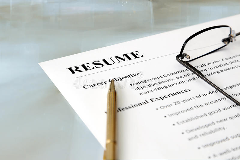 Resume On The Table Stock Photo Image Of Profession 25265316