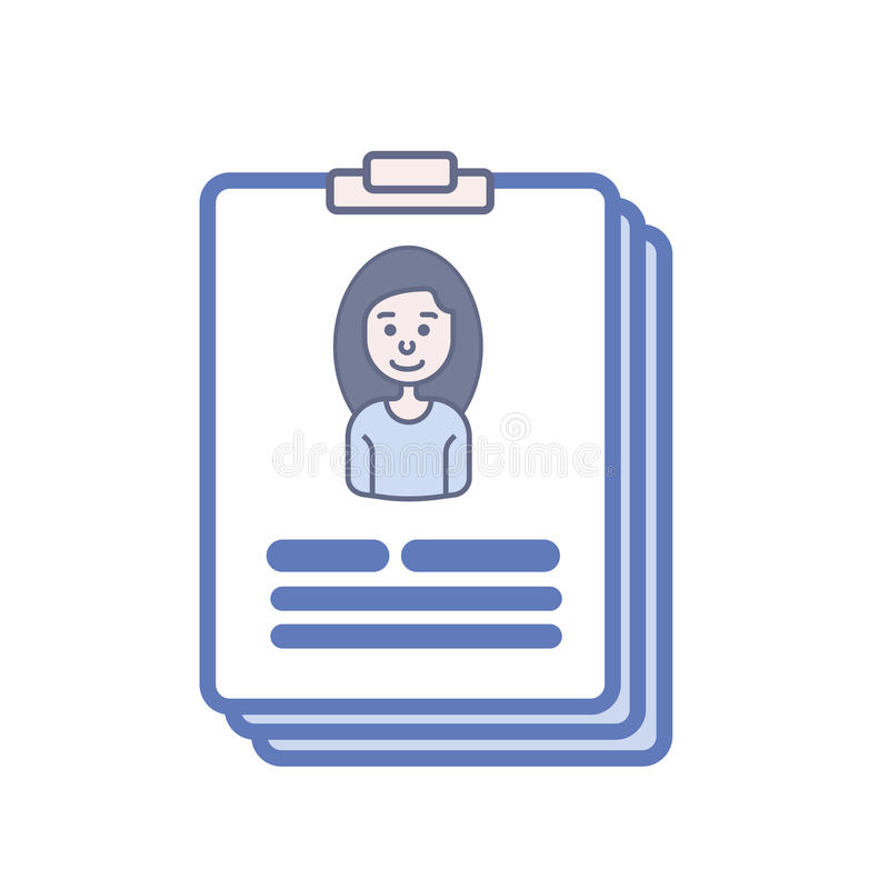 Resume on tablet stock images