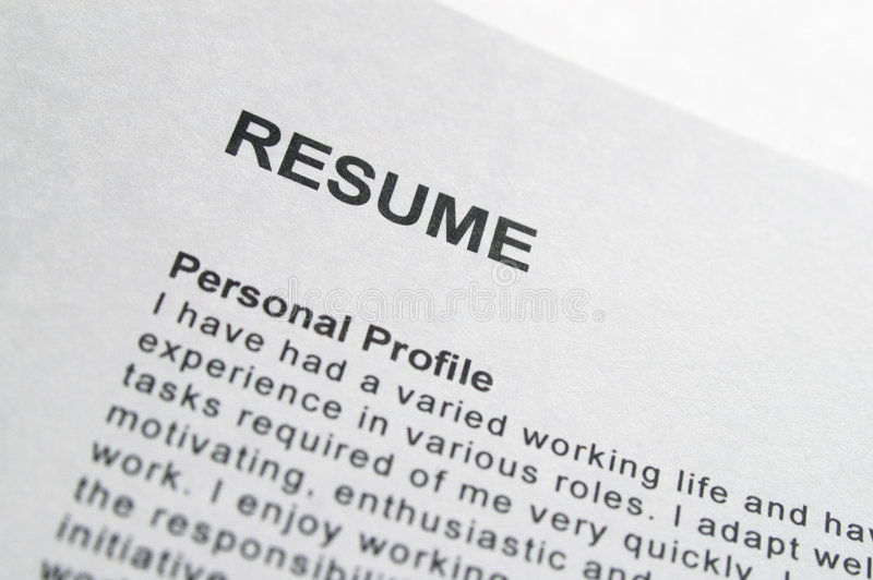 resume title page stock photo image of employment employer 780372