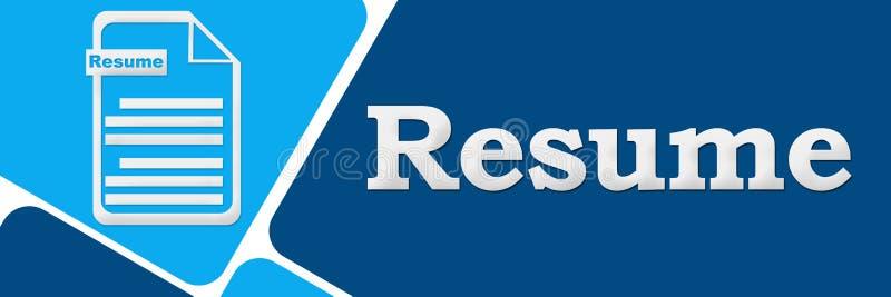Resume Two Blue Squares Stock Illustration Illustration Of