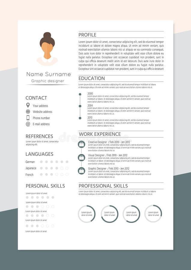 Resumo feminino com projeto infographic ilustração stock