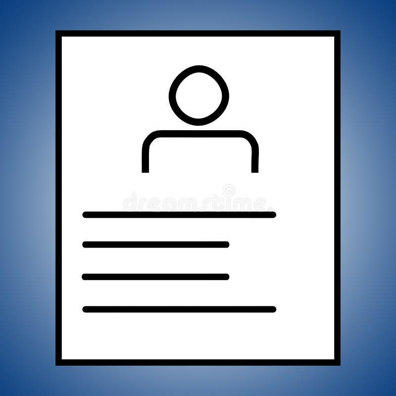Resumo ou ícone da aplicação no fundo azul ilustração do vetor