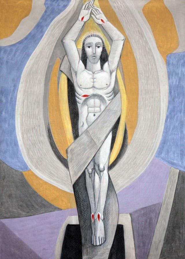 Resurrección de Cristo fotografía de archivo