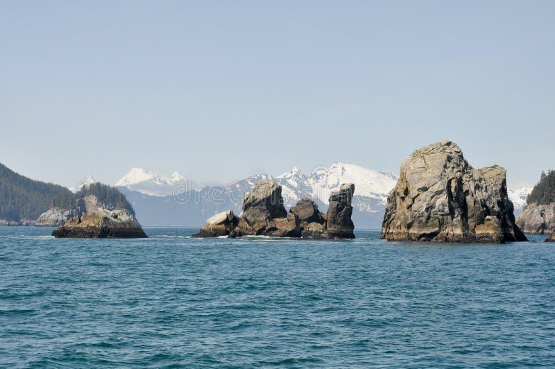 Resurrection Bay in Alaska stock photo