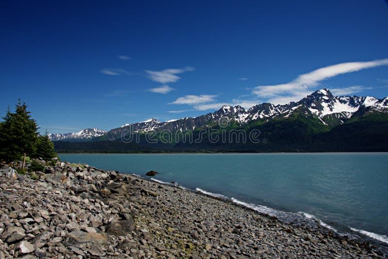 Resurrection Bay Near Seward Alaska stock photo