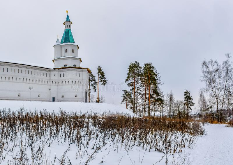 Resurrection new Jerusalem monastery on the river Istra in the Moscow region royalty free stock photos