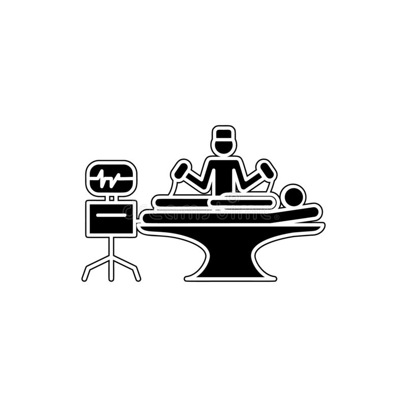 resuscitation icon. Element of cyber security for mobile concept and web apps icon. Glyph, flat icon for website design and royalty free illustration