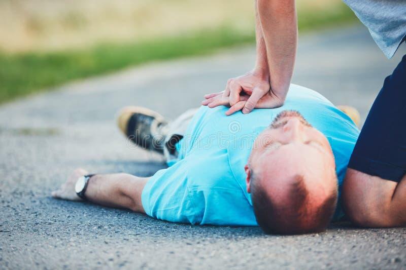 Resuscitation na drodze zdjęcie royalty free