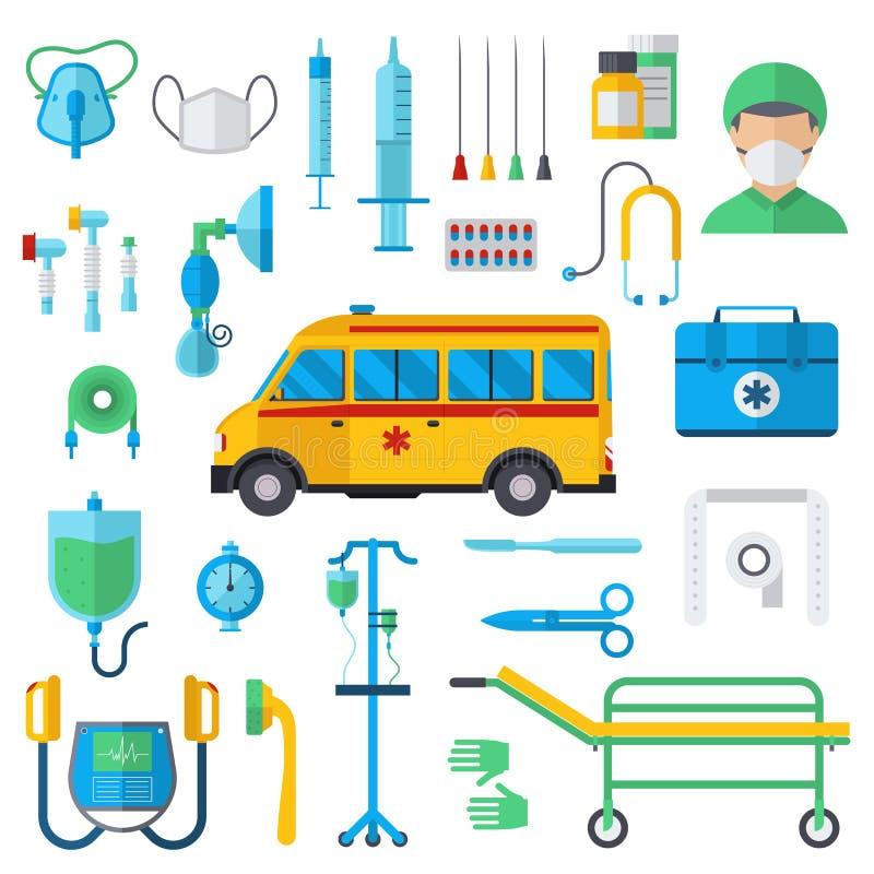 Resuscitation symbols vector illustration. vector illustration