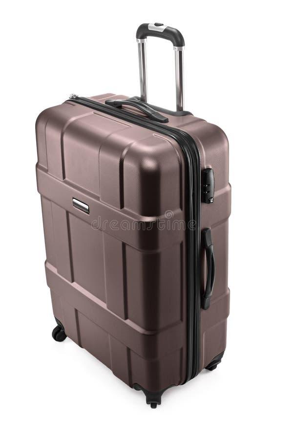 Resväska med det öppnade handtaget royaltyfria foton