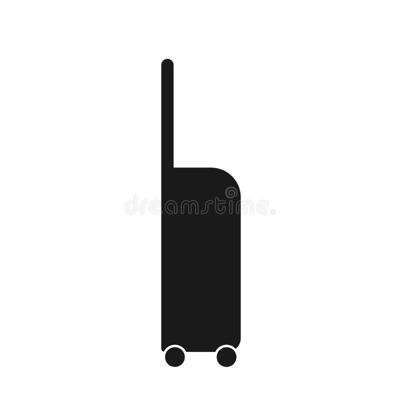 Resväska med hjulsymbolsvektorn resväska med illustrationen för hjulvektordiagram vektor illustrationer