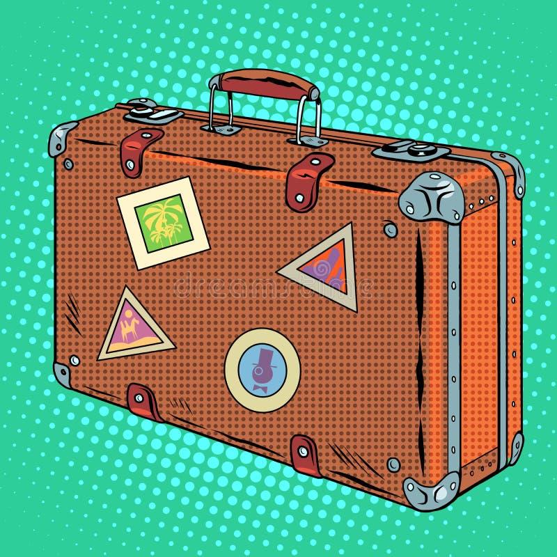 Resväskahandelsresandebagage royaltyfri illustrationer
