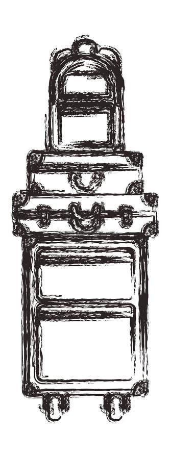 Resv?skap?sar traver den isolerade symbolen royaltyfri illustrationer