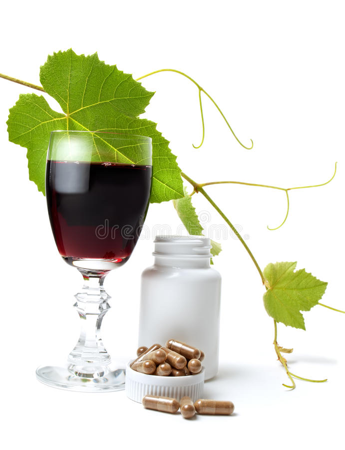 Resveratrol fotografia stock