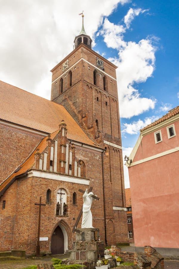 Reszel -教会。 库存图片