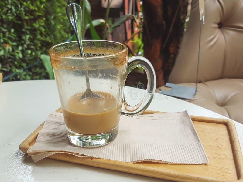 Resztki cappuccino obrazy stock