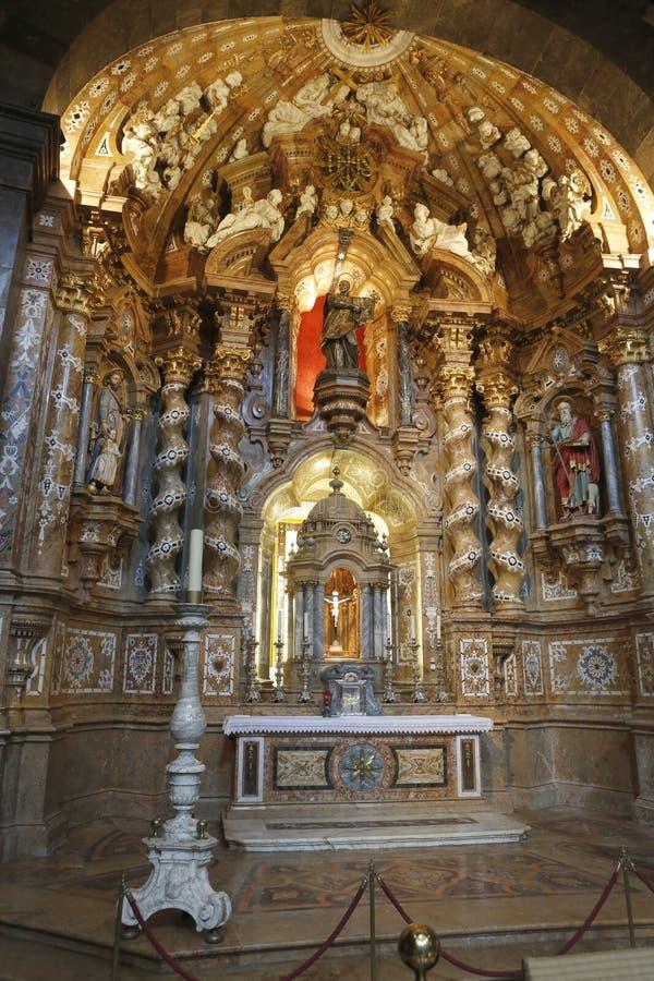 Retábulo da basílica de Loiola em Azpeitia (Espanha) foto de stock royalty free