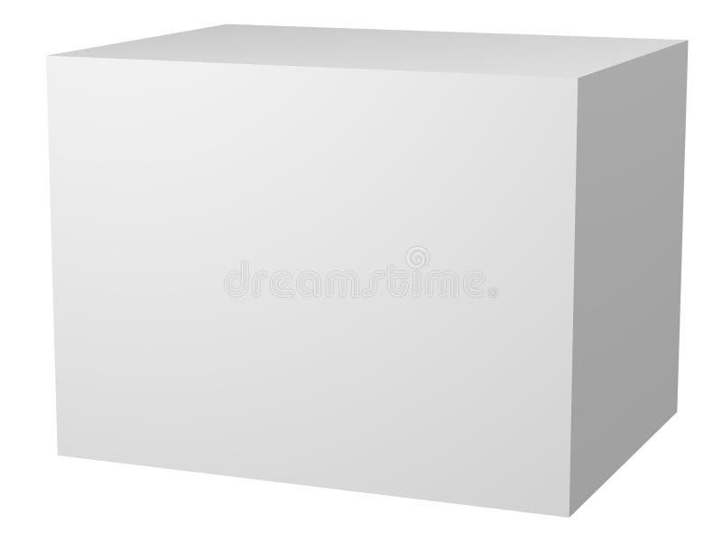 retângulo 3D branco em branco ilustração stock