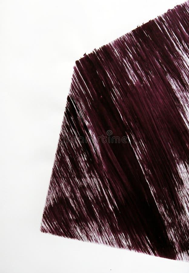 Ret?ngulo curvado tirado pela escova ilustração do vetor