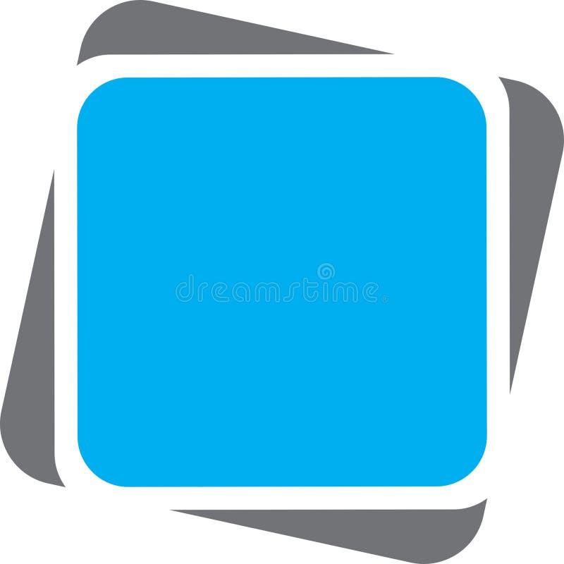 Retângulo do cinza azul ilustração royalty free