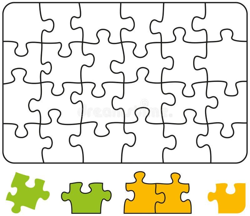 Retângulo do enigma de serra de vaivém ilustração royalty free