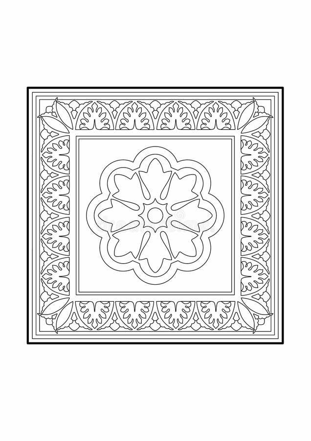 Retângulo floral ilustração stock