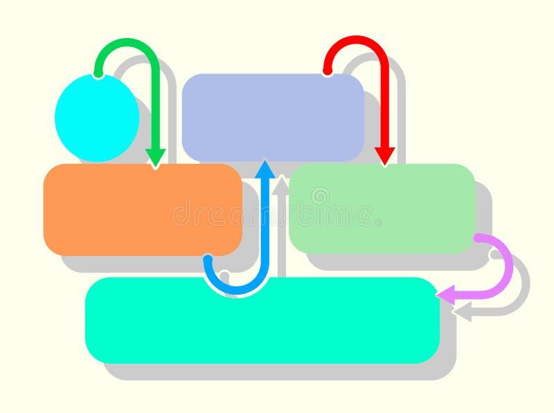 Retângulos de Infographic foto de stock