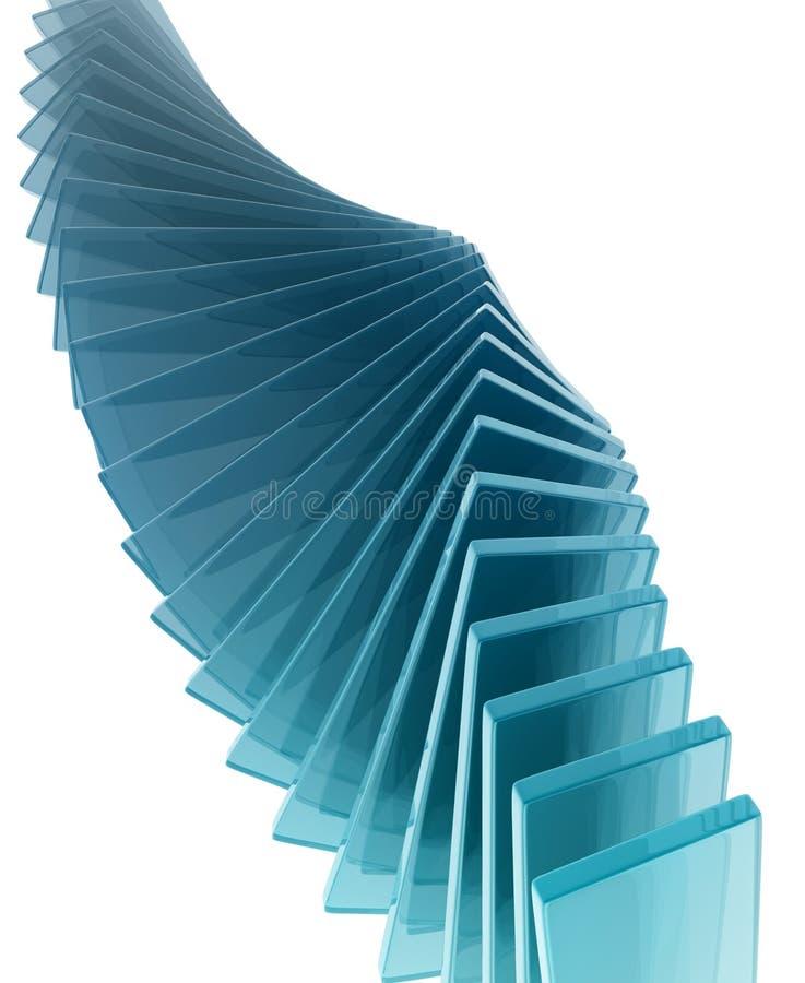 Retângulos de vidro ilustração stock