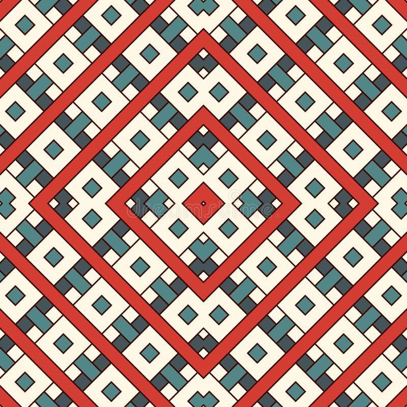 Retângulos e fundo de sobreposição dos quadrados Projeto sem emenda do teste padrão com figuras geométricas repetidas da folha de ilustração do vetor