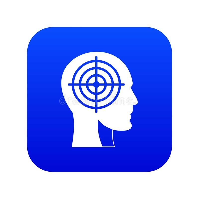 Retículo en azul digital principal humano del icono libre illustration