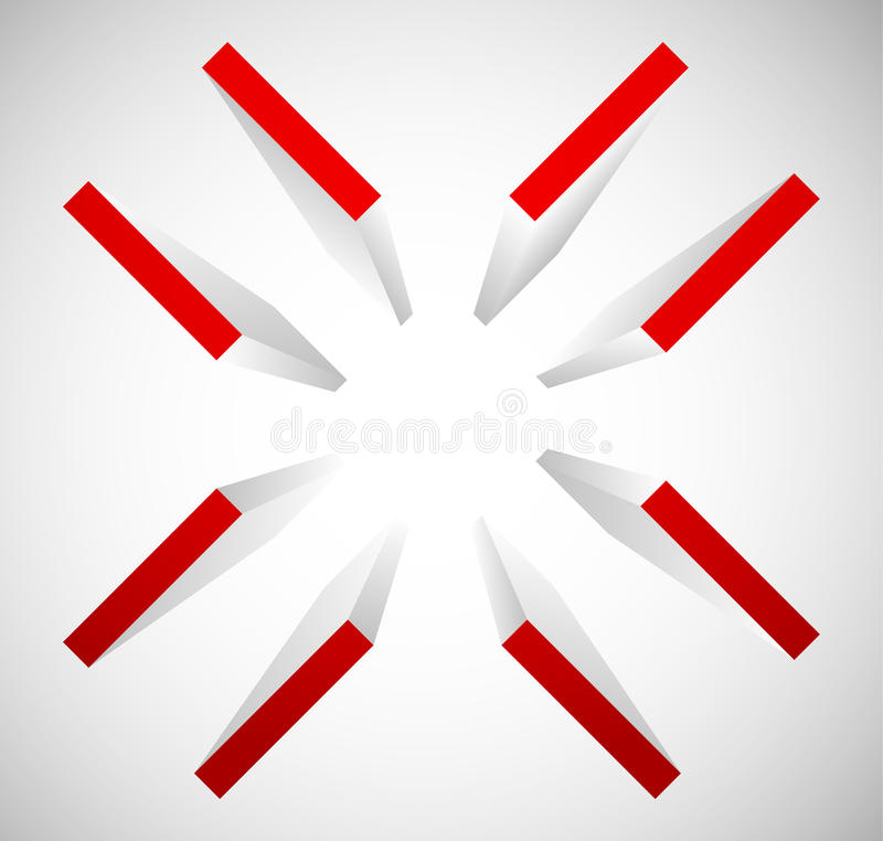 Retículo, símbolo de la marca de la blanco Estafa alinee, de la precisión o de la exactitud libre illustration