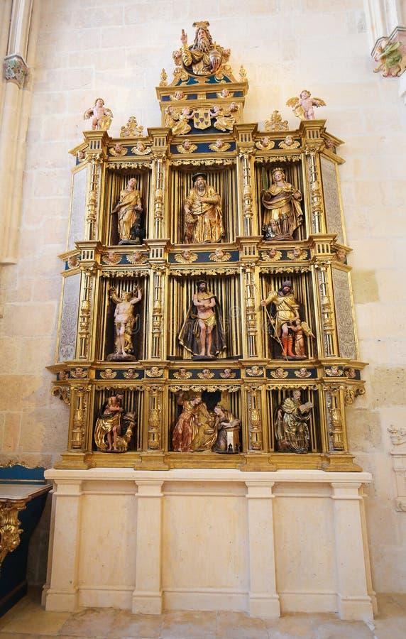 Retable в соборе Бургоса, Испании стоковое изображение rf