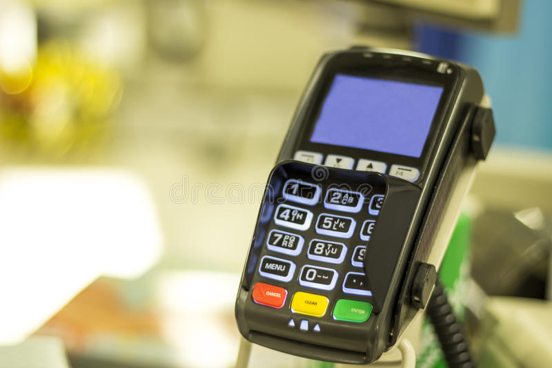 Retail card reader royalty free stock images