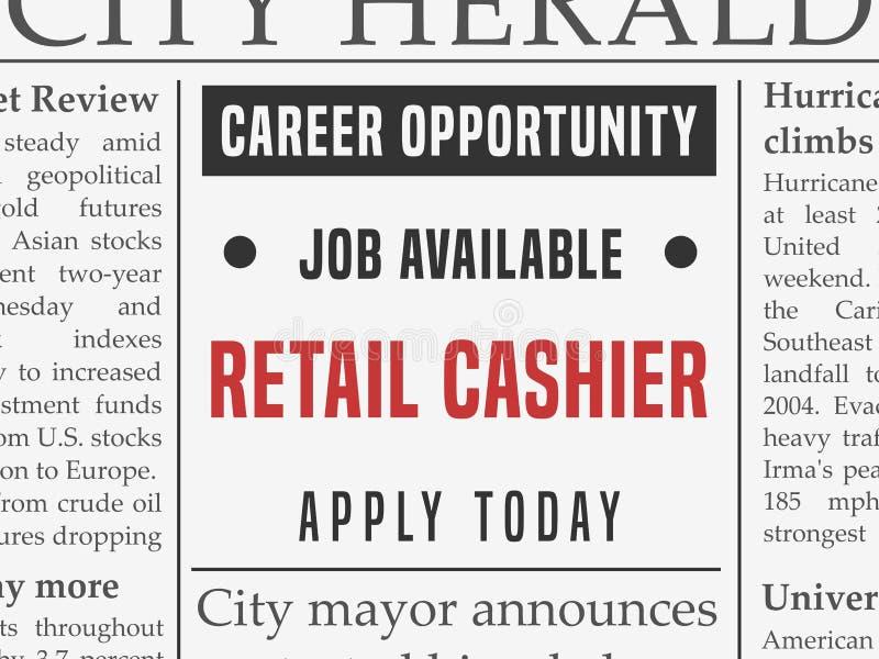 Retail cashier job stock vector. Illustration of media - 101484478
