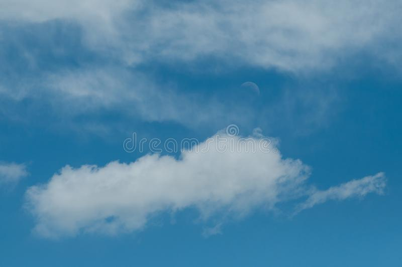 cloudy sky with the moon royalty free stock image