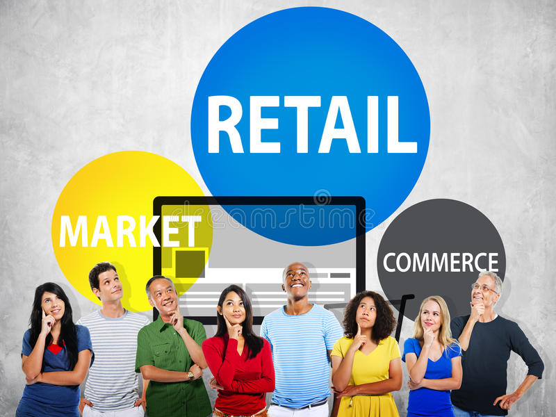 Retail Consumer Commerce Market Purchase Concept royalty free stock image